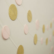 Pink & Gold Glitter Garland / Party Backdrop / Bunting Pastel Perfection Wedding