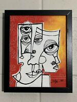 """PAINTING ORIGINAL ACRYLIC ON CANVAS PANEL (FRAME INCLUDED) 8""""X10"""" By LISA."""