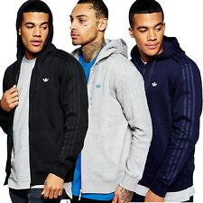 adidas Originals Mens Classic Trefoil Hoodie Full Zip Hoody Jumper Sweater Top