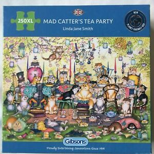 Brand New Gibsons 250XL Large Piece Jigsaw Puzzle - MAD CATTER'S TEA PARTY, LJS