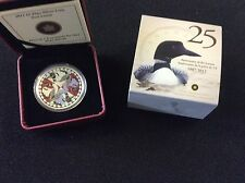 2012 $1.00 Fine silver coin. two loons.