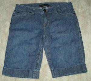 Calvin Klein Size 12 Bermuda Cuffed Walking Cotton Stretch Mid Rise Summer Short
