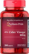 Apple Cider Vinegar 600mg 200 tablets | Puritan's Pride Vitamins Supplements
