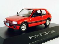 Peugeot 205 GTI 1986 Red - Brazil Rare Diecast Car Scale 1:43 New With Stand