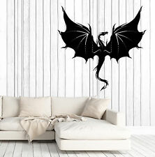 Wall Vinyl Decal Fantasy Chinese Dragon Living Room Decor z4659