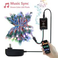 WS2811 Music Sync Addressable RGB LED Pixel Light 5V 12mm Digital Dream Color