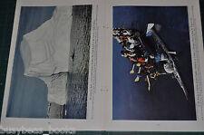 1943 US COAST GUARD magazine article WWII, Escorts, life at sea etc color photos