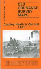 OLD ORDNANCE SURVEY MAP CRADLEY HEATH & OLD HILL 1901