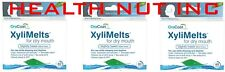 XyliMelts dry mouth discs, mint-free, 120 discs total , 3-pack, all-natural