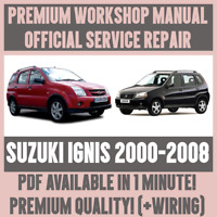 *WORKSHOP MANUAL SERVICE & REPAIR GUIDE for SUZUKI IGNIS 2000-2008 +WIRING