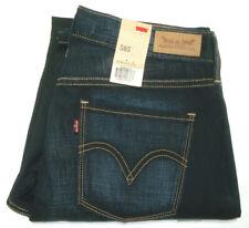 LEVI'S 505 BNWT WOMENS SIZE 6 MEAS W28 X L30 STRAIGHT LEG BLUE JEANS FREE POST