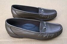 SAS USA Made Bronzed Leather Loafers Small Horsebit Buckled Vamp 7.5 Narrow EUC