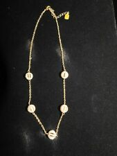 """RLL Ralph Lauren Necklace with Pave Rhinestone Open Cage Balls 18-20"""" Chain"""