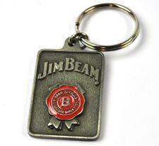 Jim Beam USA metallo portachiavi ANELLO ROSSO sigillo LOGO