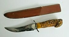Knife Fixed Blade Sheath Vintage 10.5 Total Length Stainless Steel Made in China
