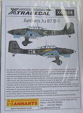 XTradecal 1/48 x48164 JUNKERS ju-87b-1 STUKA Foglio Decalcomania