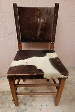Charmant Vintage Antique Chair Cowhide With Hair Hand Crafted Southwest Style Rustic
