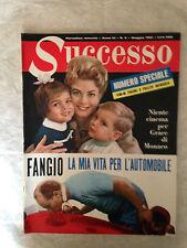 RIVISTA SUCCESSO N.5 1961 GRACE DI MONACO FANGIO VITTORIO GASSMAN KENNEDY