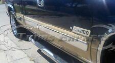 00-02 Silverado 4Dr Extended Cab Long Bed Body Side Molding Trim Stainless Steel