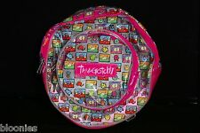Tamagotchi Round (Pink Trim) Vinyl Backpack 1997 Bandai NWT