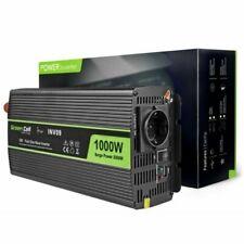 Green Cell INV09 12V/230V 1000W/2000W Convertisseur Pur Sinus - Noir