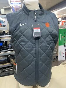 Nike Clemson Tigers Sideline Team Reversible Vest Men's L Black Gray CW8038-060