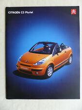 Citroen C3 Pluriel - Prospekt Brochure 03.2004