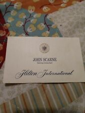 John Scarne magician casino gaming consultant card from Hilton International 60s