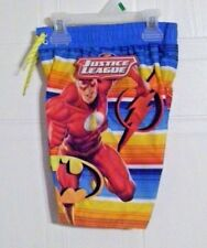 Justice League Boy's Swim Trunks - Mesh Liner - Elastic Waistband - Size: 7
