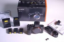 Sony Alpha A7S II Mirrorless Digital Camera Body, 3x Batteries Two Chargers, Box