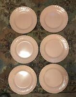 Vintage Franciscan Coronado Swirl Pattern Pink (Coral) Plates Set of 6