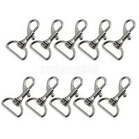 10Pcs Swivel Trigger Clips Snap Hooks Lobster Clasp for Keychain Bag Craft
