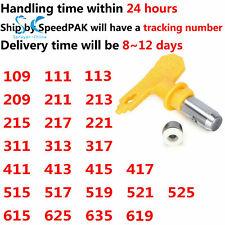 Yellow Paint Sprayer Nozzle 111 211 311 411 615 ... Airless Spray Nozzle Gun Tip