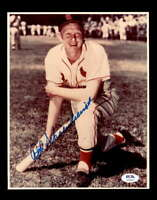 Red Schoendienst PSA DNA Coa Hand Signed 8x10 Cardinals Photo Autograph
