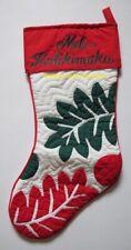 Hawaiian Quilt CHRISTMAS STOCKING Hand Quilted/hand Appliquéd BREADFRUIT