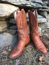vintage Nocona leather cowboy boots mens 9 1/2 D 4431 3720C