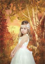 Photography Backdrops Photo Prop Studio Vinyl 5x7ft Maple Leaf Background