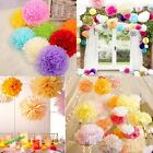 10 Pcs Tissue Paper Poms Flower Ball Wedding Home Party Outdoor Xmas Decoration