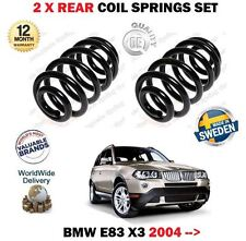 FOR BMW E83 X3 + XDRIVE 4x4 2004-> NEW 2 X REAR LEFT + RIGHT COIL SPRINGS SET
