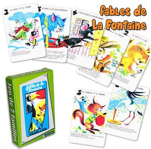 """Jeu de 7 Familles - Jeu de 42 Cartes :  """"Fables de la fontaine"""" - France Carte"""
