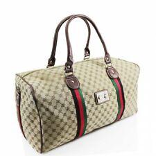 New Large Designer Inspired Holdall Gym Luggage Duffel Cabin Travel Case Bag UK