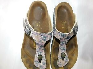 Papillio by Birkenstock Gizeh Paisley Thong Sandals size US 8 EUR 39