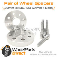 Wheel Spacers (2) & Bolts 20mm for Audi 80 [B1] 72-78 On Aftermarket Wheels