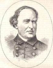 MILITARIA. Civil War. Cdre Farragut c1880 old antique vintage print picture