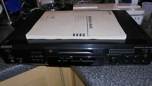 SONY MDS-JE520 MINIDISC PLAYER / RECORDER VINTAGE HI FI c/w INSTRUCTION BOOK