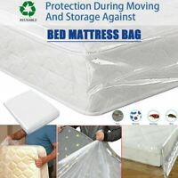 Home Transparent Single/Double Bed Mattress Bag Dust Protector Storage Cover S/L