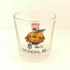 Naranjito Mundial 82 Coca-Cola Juice Glass Tumbler Orange Mascot World Cup 1982