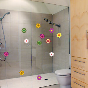 SET OF FLOWERS Sticker Vinyl Waterproof Decal Bathroom/Home/Car/Furniture Decor