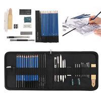 32 pcs Professional Drawing Sketching Pencils Kit Graphite Charcoal Artist Tools