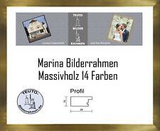 Marina Echtholz Bilderrahmen Gold in verschiedenen Größen